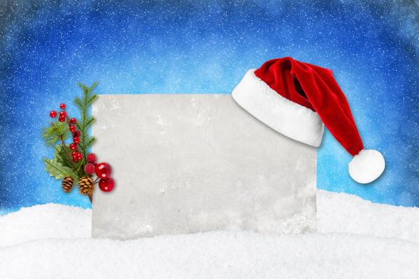 xmas, karta, niebieski, śnieg - 10415113