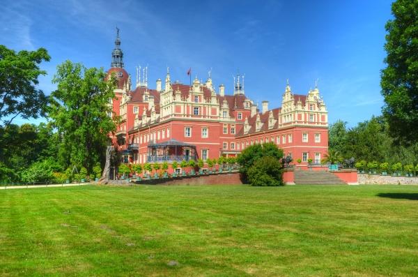 zamek, w, parku, księcia, pücklera - 13686818