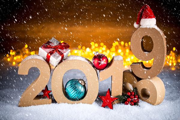2019 szczesliwego nowego roku kartka z