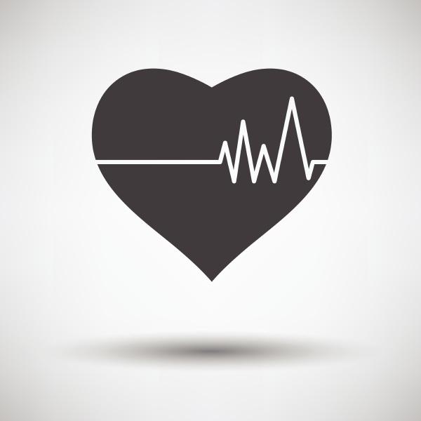 serce, z, ikoną, cardio, diagram, na - 26297955