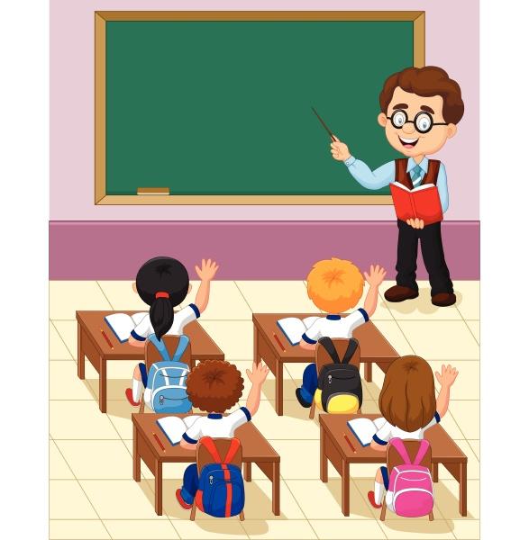 kreskowka maly dzieciak nauka w klasie