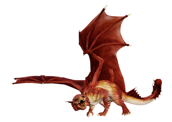 3d, rendering, fairy, tale, dragon, on - 28217974