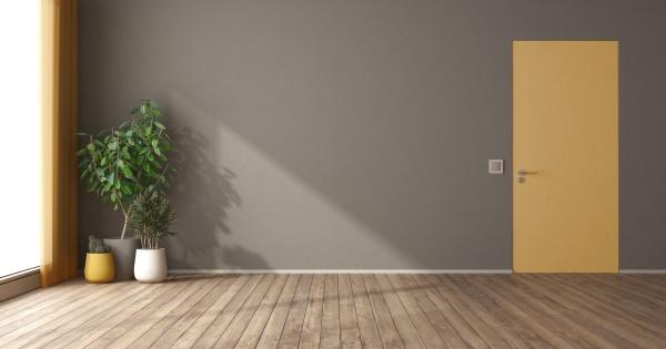 pusty pokoj z drzwiami scienne