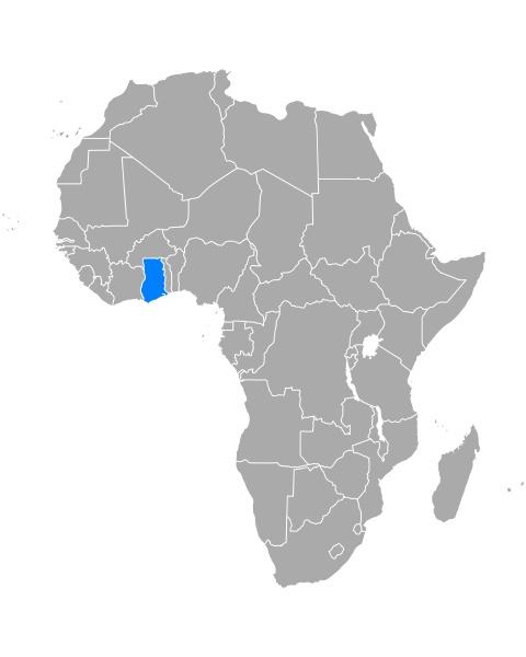 mapa, ghany, w, afryce - 29265549