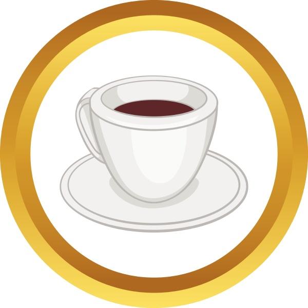 ikona, wektorowa, białej, filiżanki, kawy - 30143910