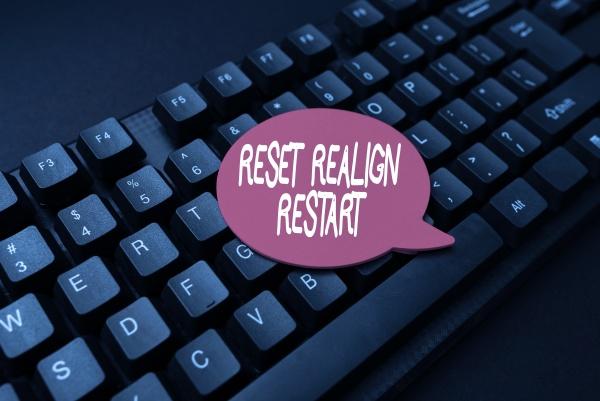 writing displaying text reset realign restart