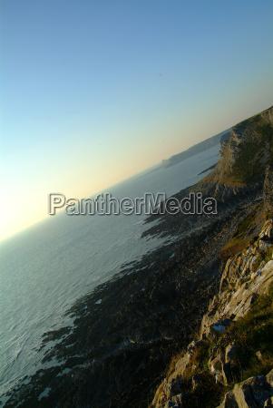 niebieski horyzont kamien pestka urlop urlop