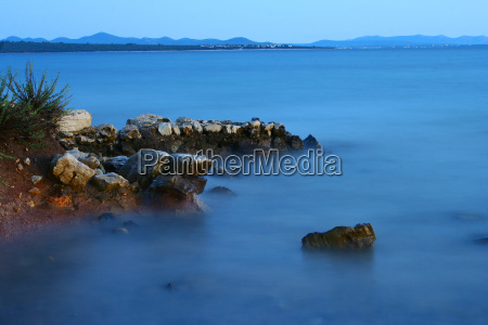 niebieski plaza brzegach brzeg nadmorski plazy