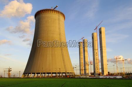 nowa, budowa, wieży, chłodniczej, elektrowni - 524953