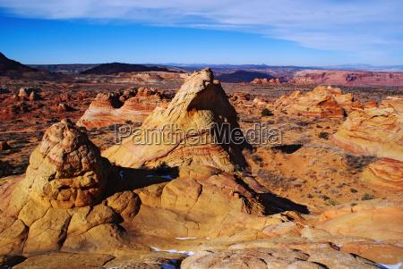 usa skaly skala ameryka piaskowiec patrzec