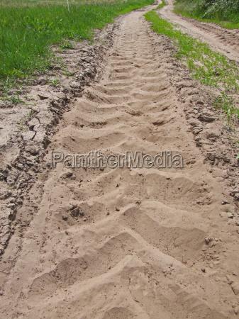 zielony polna droga pole czuc projekt