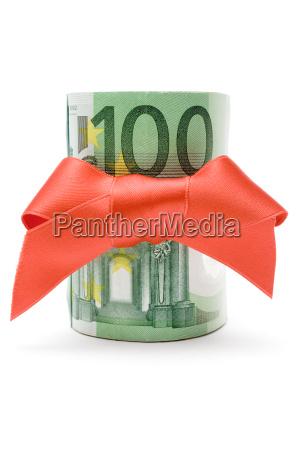 100 euro pieniadze prezent