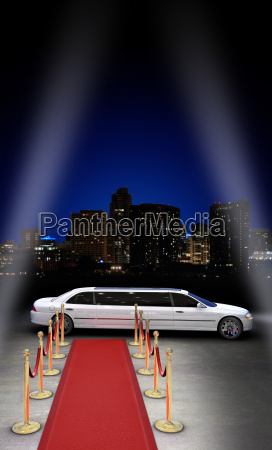 limousine at the red carpet after