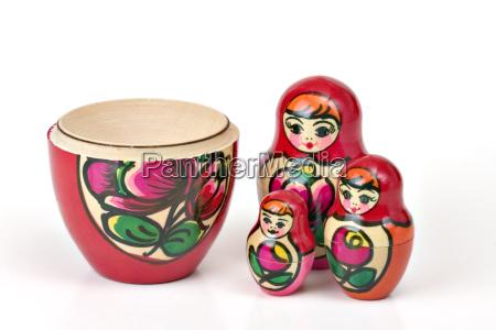 kolorowe kolektora zabawka lalka tradycja drewniany