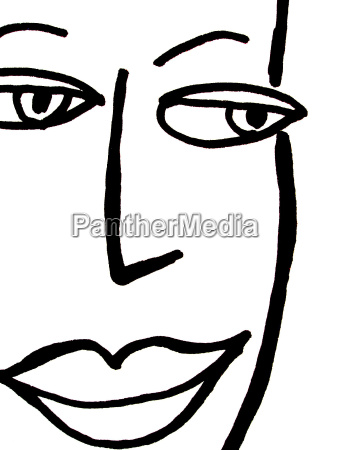 twarz buzia rysunek fotografia obrazek ilustracja