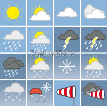 pogoda ikony kolor