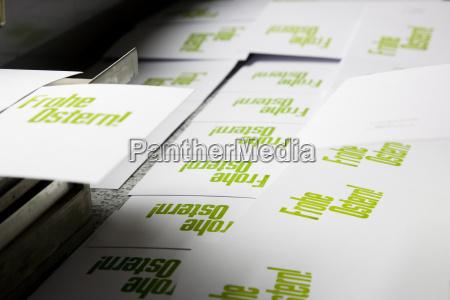 wesolych Swiat wielkanocnych recznie drukowane kartki