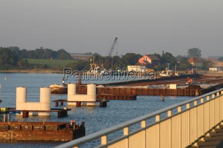 molo most molo porecze mostu bauarbeiten