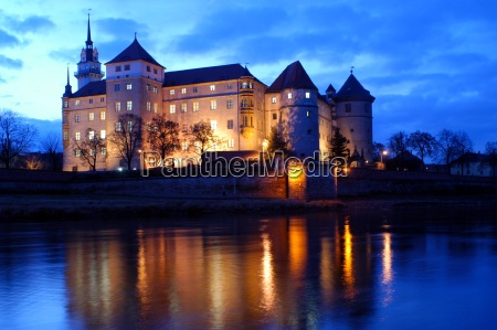 noc nocy saksonia Laba river rzeka