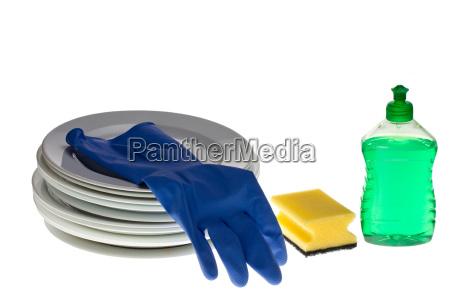 naczynia do mycia naczyn izolowane