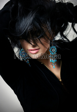 brunette posing