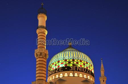 dome kopula drezno meczet gwiazdziste niebo