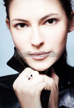 close up portrait of young brunette