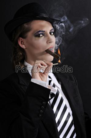 lady z cygarem