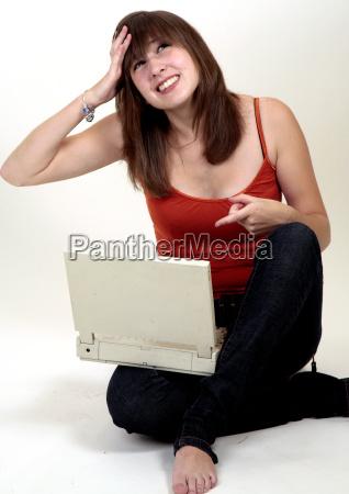 dziewczyna na laptopa