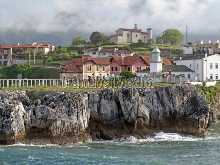 widok llanes asturia hiszpania