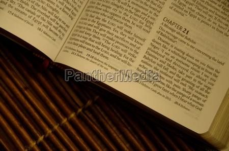 closeup of bible