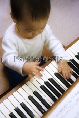a child playing the piano