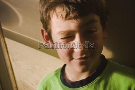 boy winking