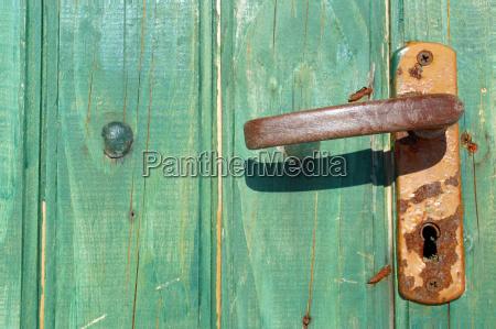 old, rusty, door, handle, , brasov, , transylvania, - 2255375