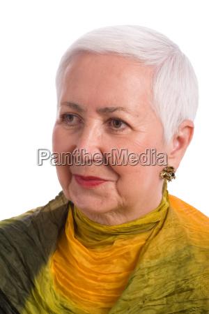 cheerful senior woman portrait