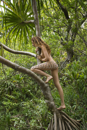 nude woman in nature