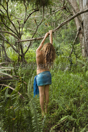 woman in nature