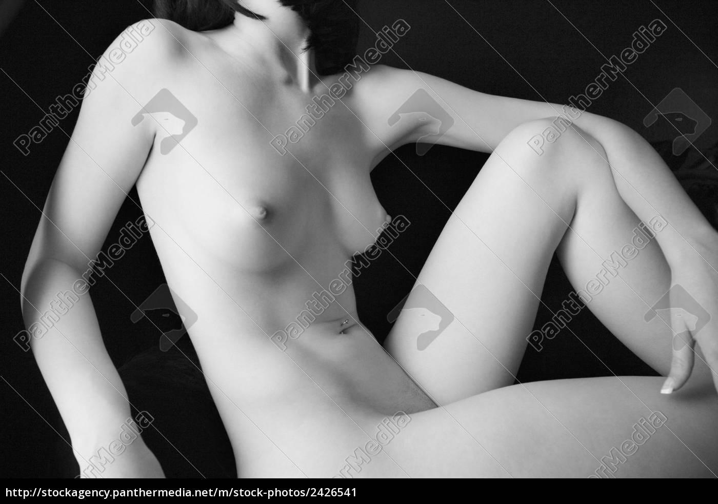 naga, kobieta, półleżącej. - 2426541