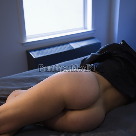 partially nude woman