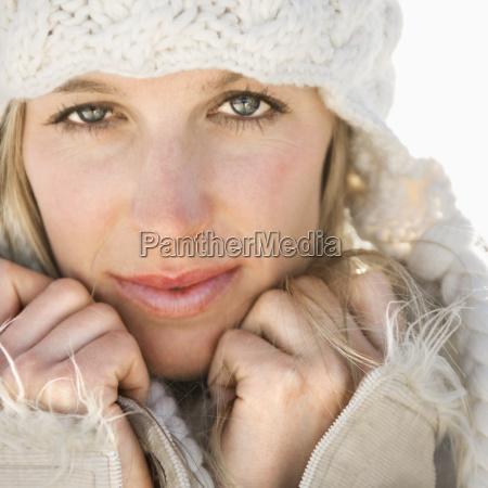 pretty woman in hat