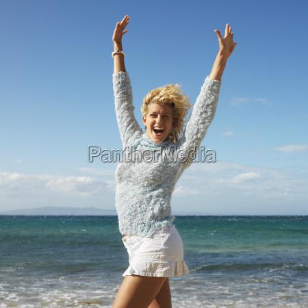 happy pretty woman