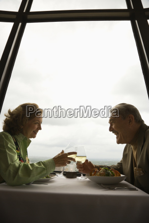 mature couple on date