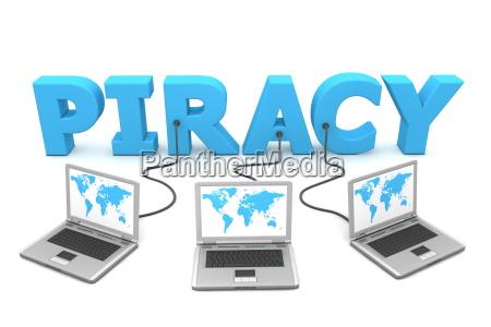 niebieski slowo trzy vokabel piractwa piractwo