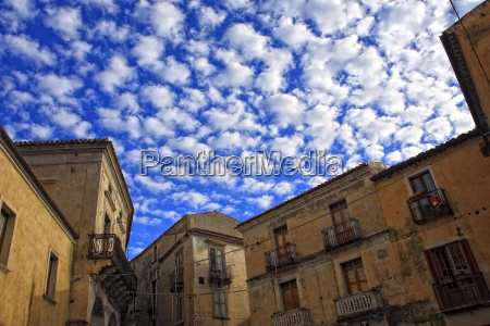 ancient town and blue sky