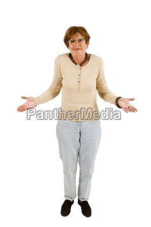 kobieta womane baba seniorow zaklopotany