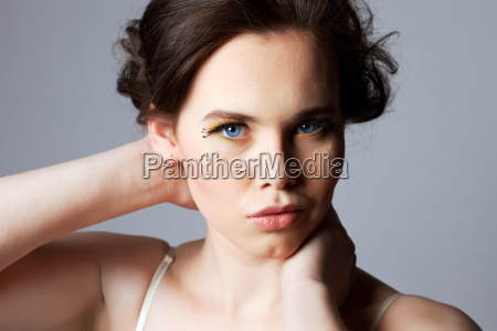 beautiful woman with full makeup portrait