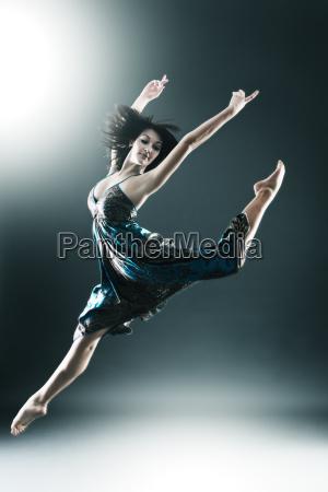 stylowy, i, młodych, nowoczesny, styl, tancerka - 3086211