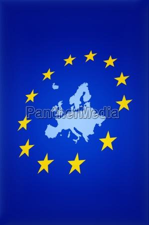 grafika europa ilustracja flaga gwiazdki gwiazdkami