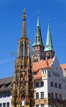 nuremberg landmarks beautiful fountain