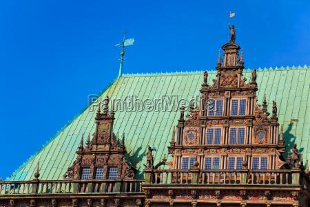 townhall in bremen detail